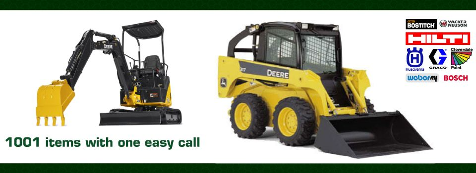 mini excavator, skid steer - Rental Yard Kamloops
