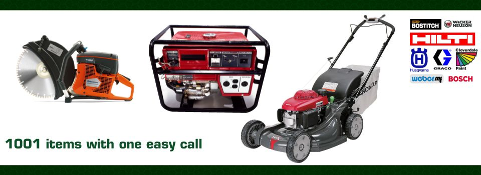 saw, generator, lawn mower - Tool Rental Kamloops